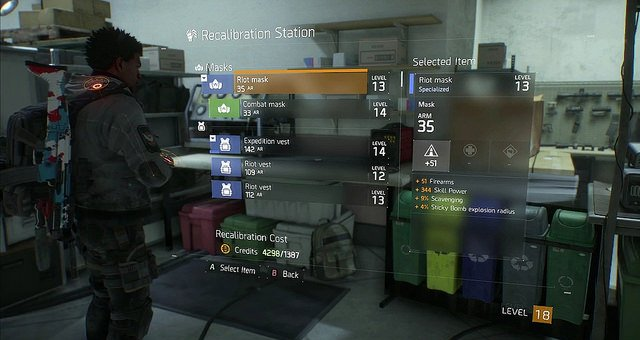 The Division - How to Re-Roll Gear Stats (Recalibration Station)