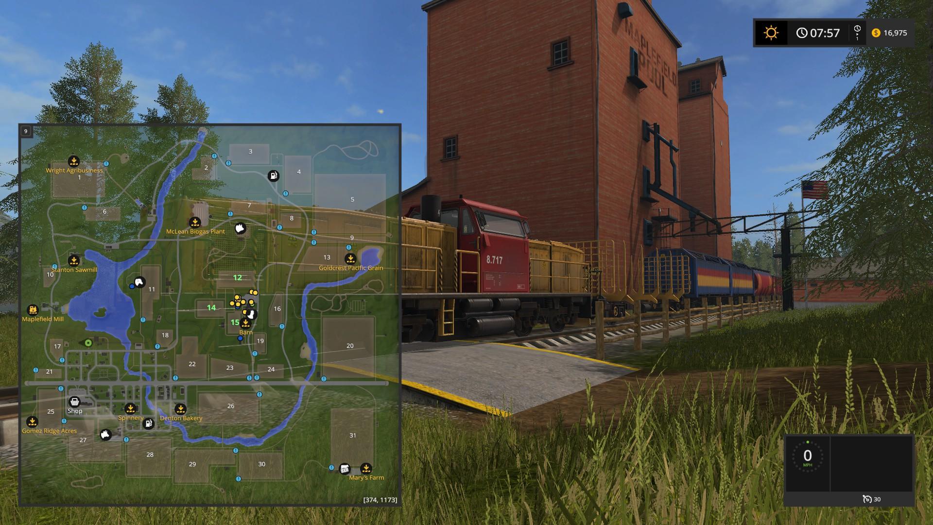 Farming Simulator 17 - Basic Training: Using the Train to Gather Grain