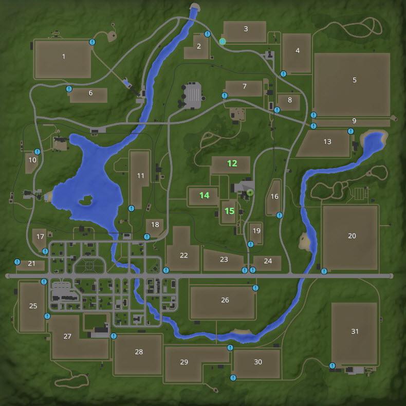 Farming Simulator 17 - Field Information (Goldcrest Valley
