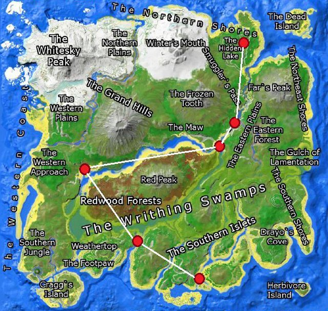Ark Map The Island Best Base Location