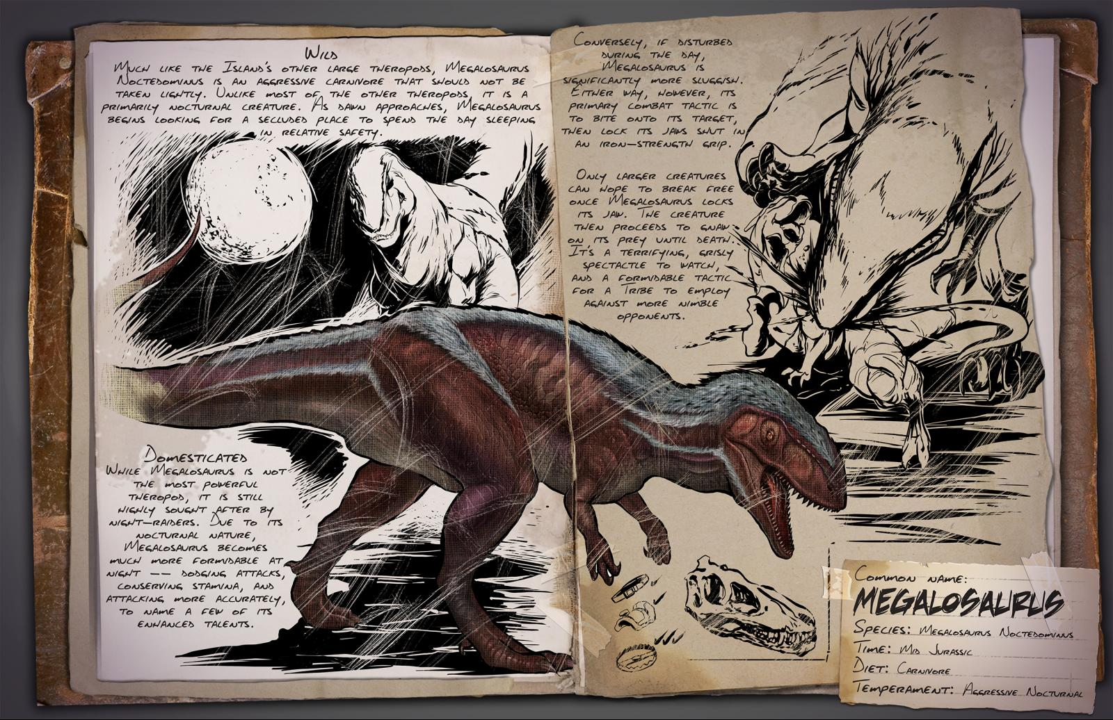 ARK: Survival Evolved - All About Megalosaurus (The Night