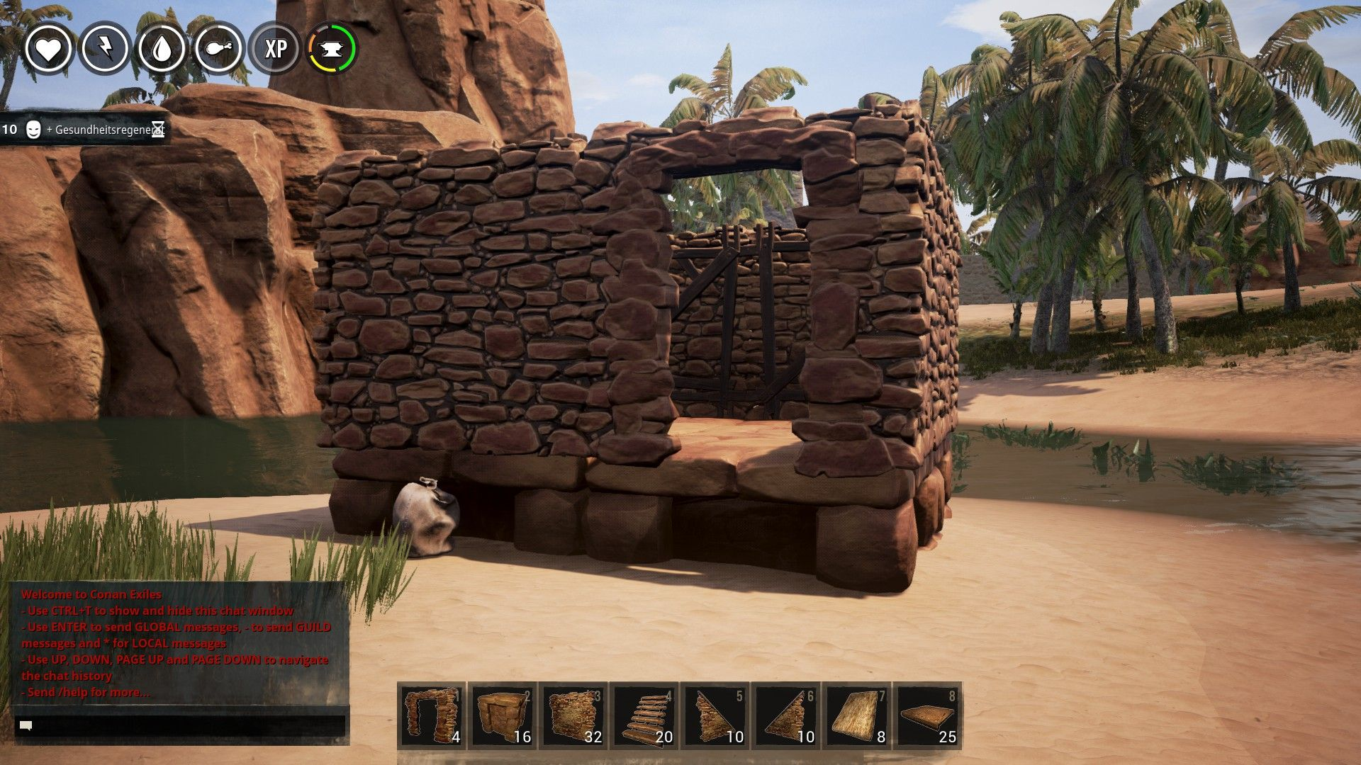 Conan Exiles - How to Build the Roofs
