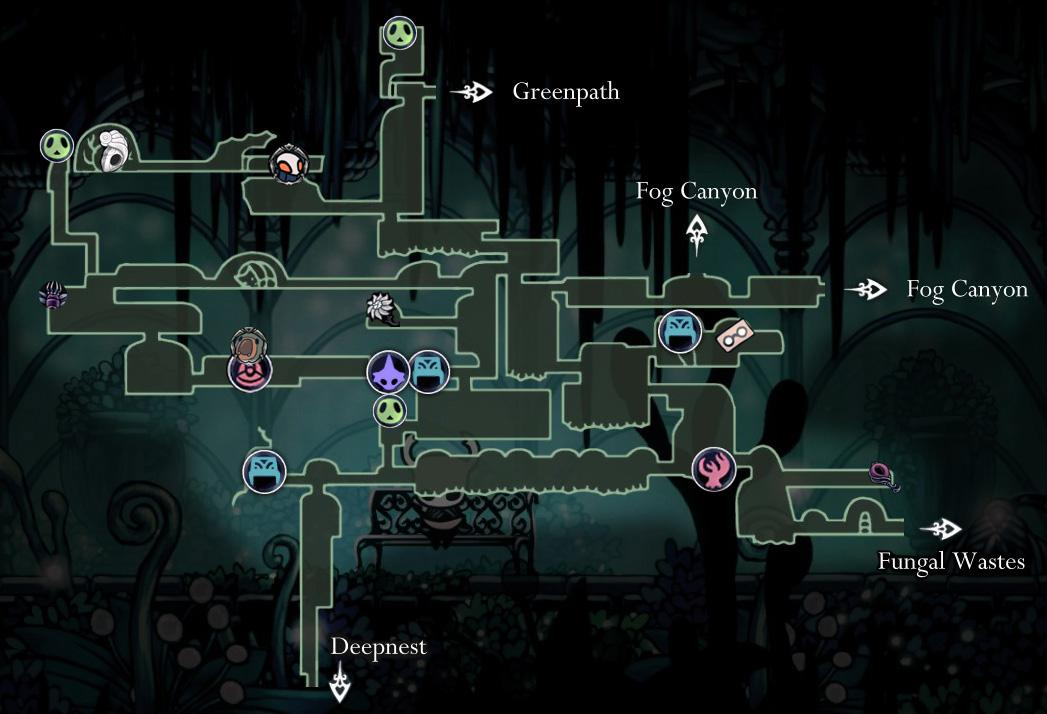 hollow knight maps of hallownest