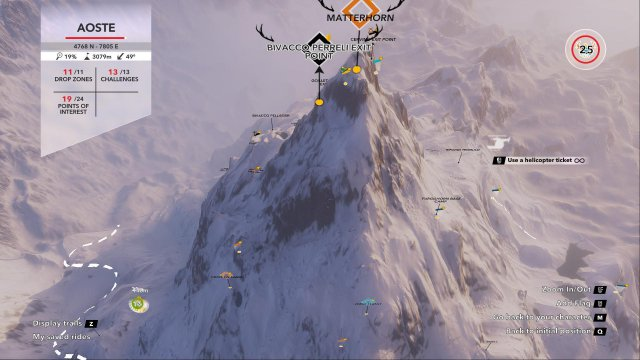 Steep - All Coordinates for Mountain Stories, Drop Zones and Points of Interests
