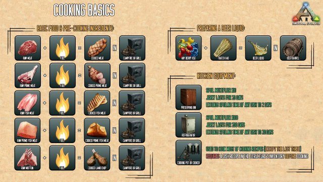 ARK: Survival Evolved - Guide for Beginners (Maps, Dinos, Cooking, Engrams, Recipes)