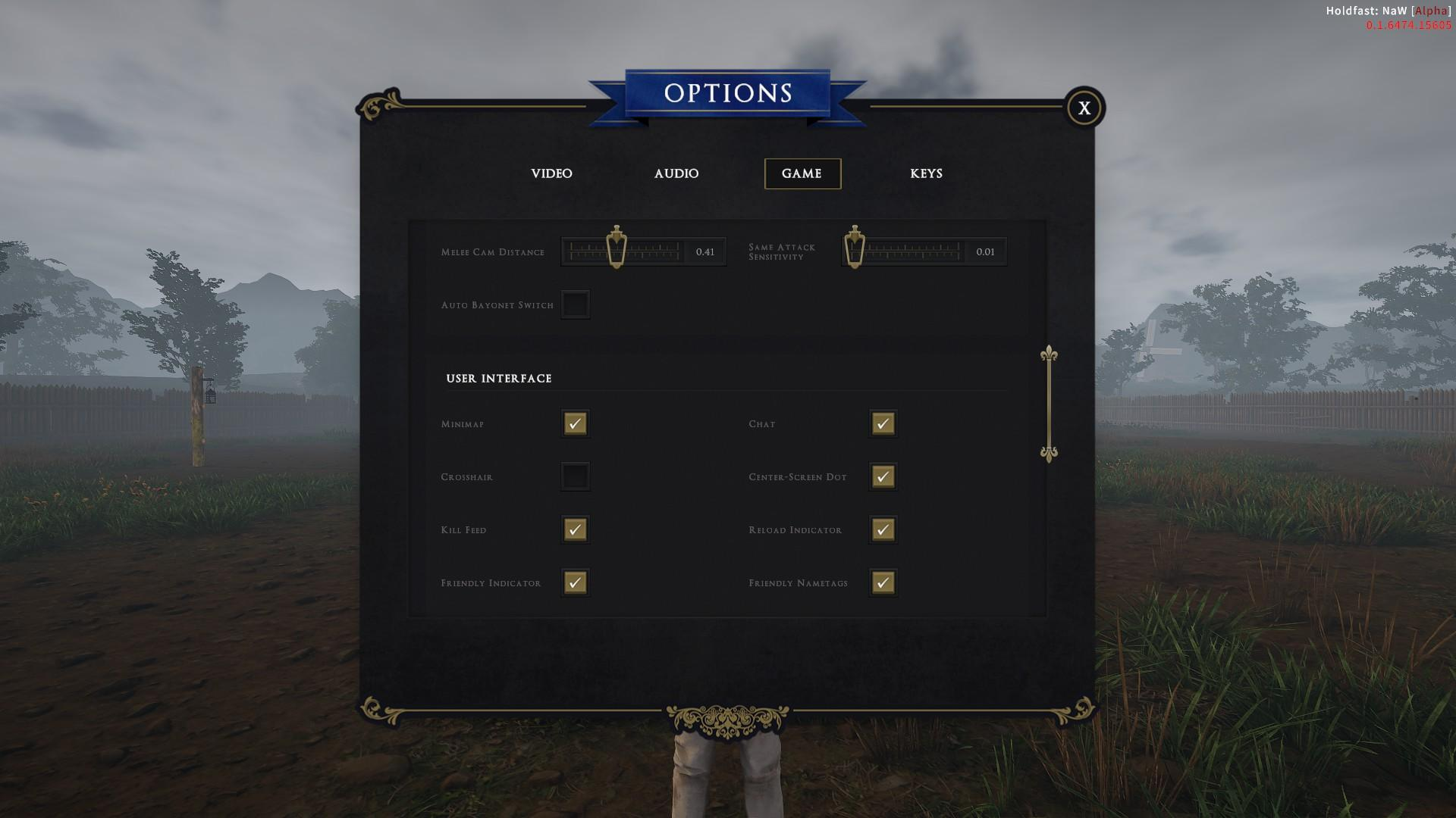 Holdfast: Nations At War - How to Make the Dot Crosshair Permanent