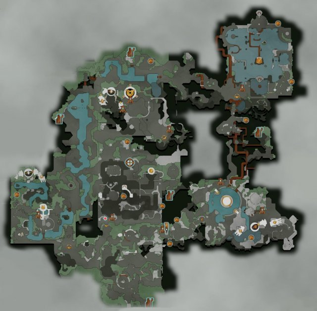 Hob - All Vistas (Overworld Map)