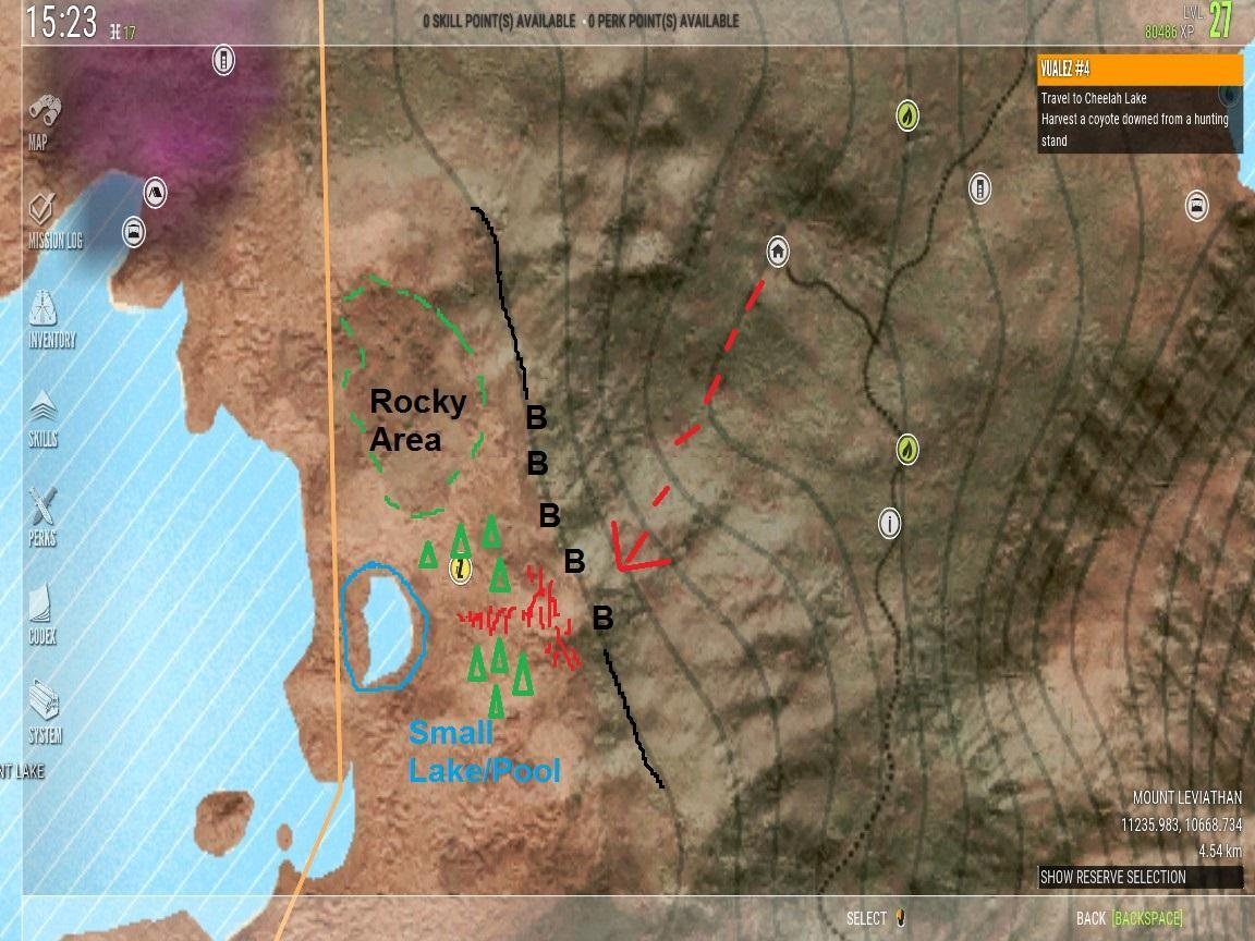 Hunter Call of the Wild  Coyote Missions Guide with Hotspots