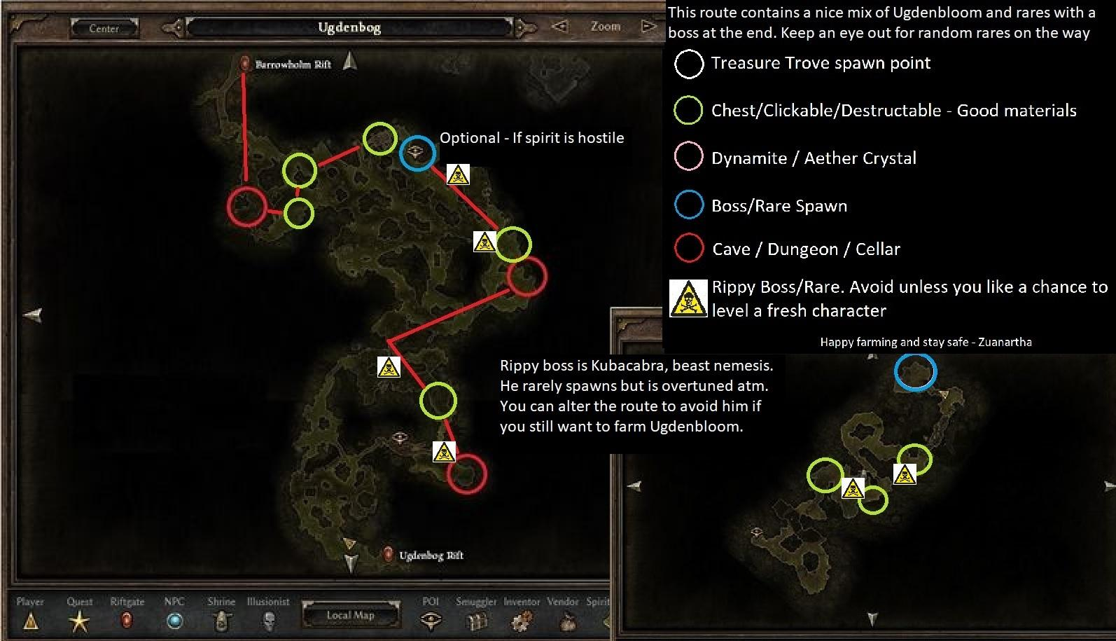 Grim Dawn - Optimized Farming Routes
