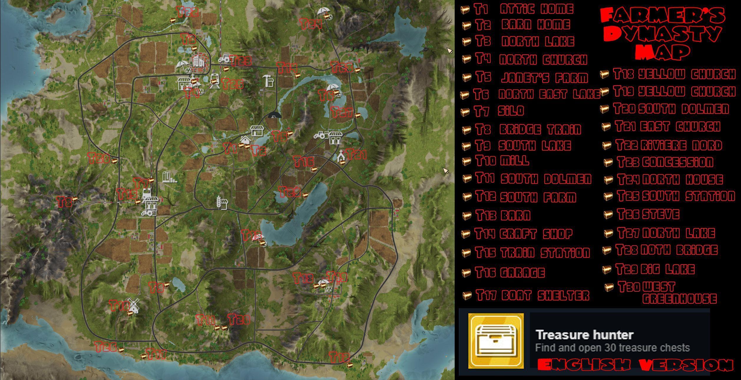 Farmer S Dynasty Treasure Chest Locations