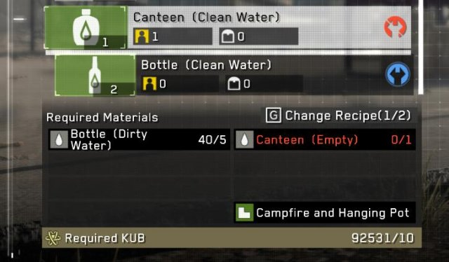 Metal Gear Survive - How to Make Dirty Water 17% More Efficient