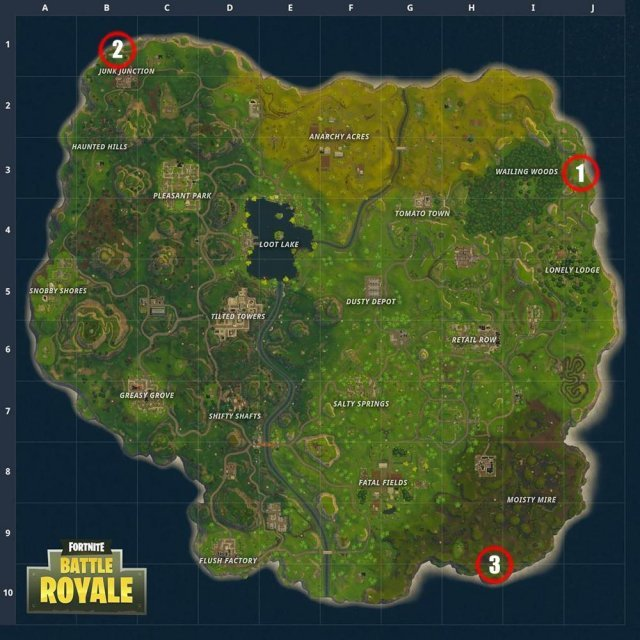 Fortnite Battle Royale - Llama, Fox and a Crab Location (Season 3)