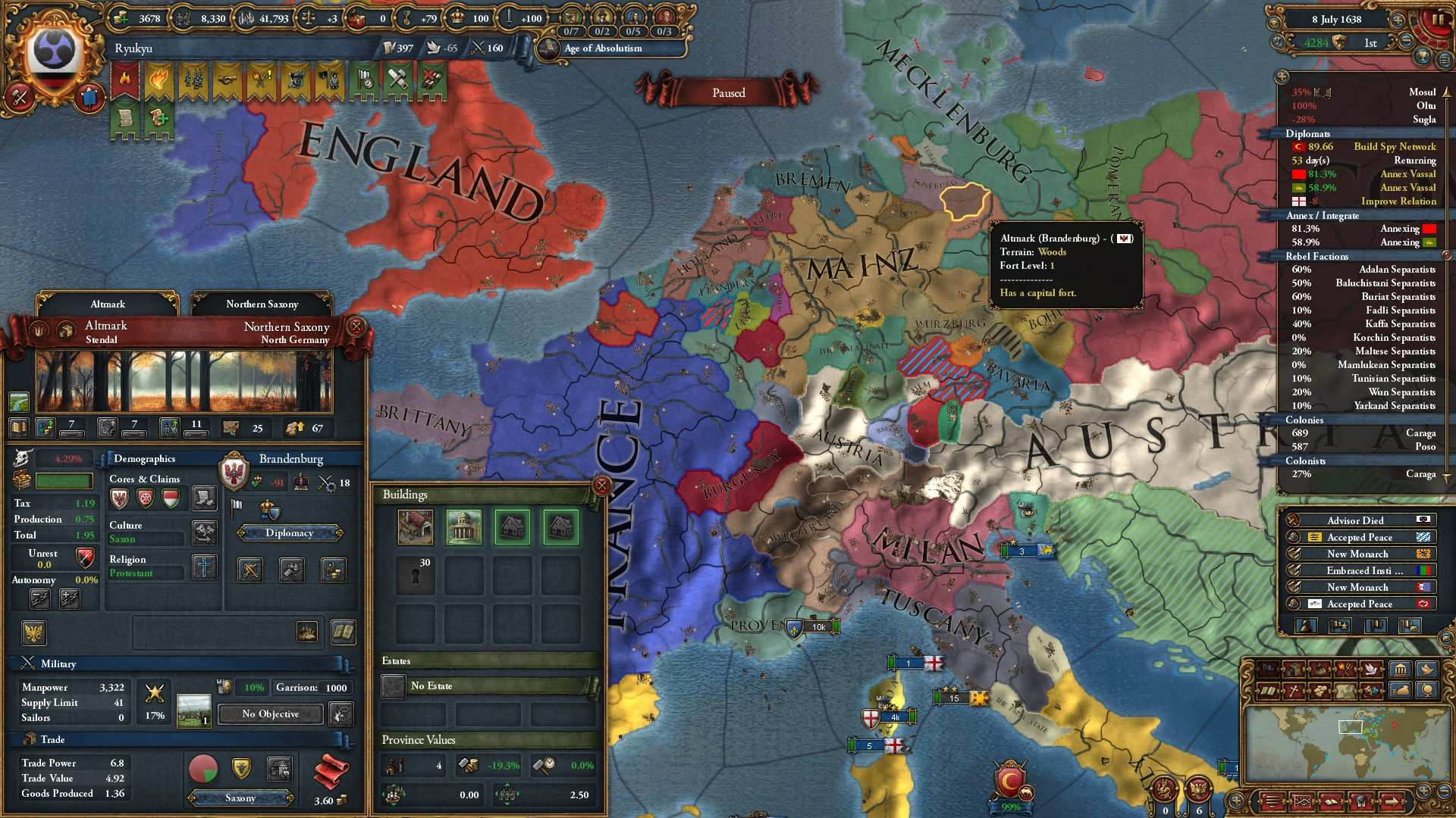 Europa Universalis IV - How to Get the Three Mountains Achievement
