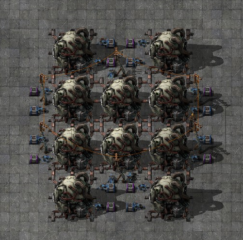 Factorio - Nuclear Reactor Energy Storage & Output