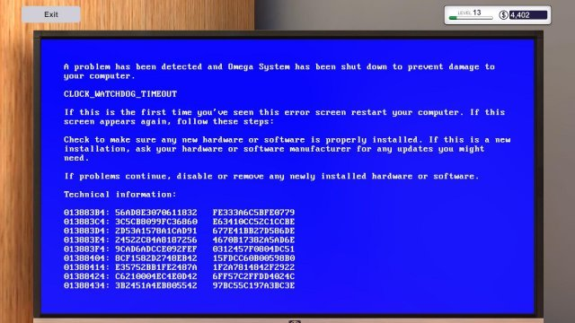 PC Building Simulator - BSOD Guide (Blue Screen of Death)