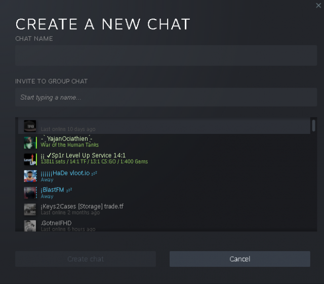 Steam - How to Make a Group Chat