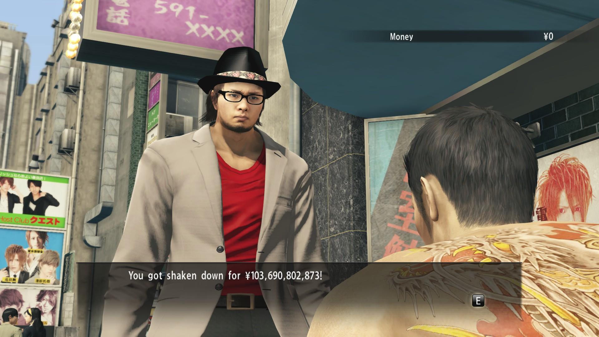 Cómo te quitan dinero en Yakuza Zero