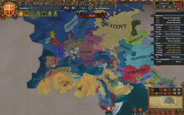 Europa Universalis IV - How to Byzantium in 1 25