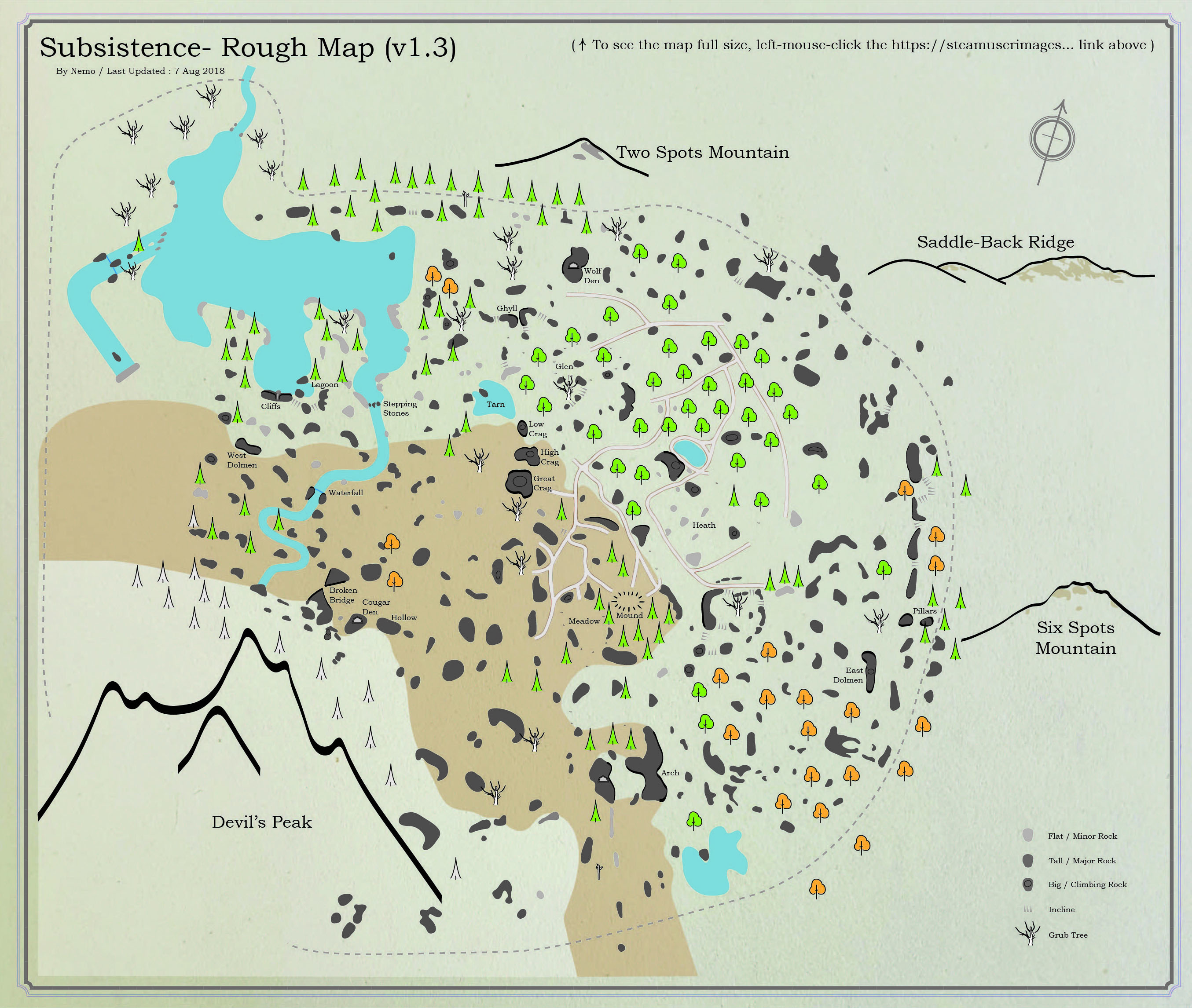 Subsistence Rough Map