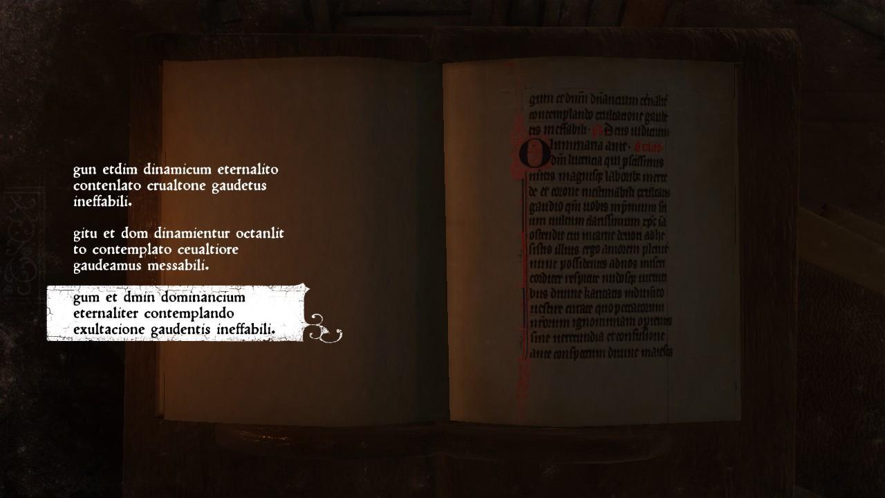 Kingdom Come: Deliverance - Life in the Cloister Latin Transcribing