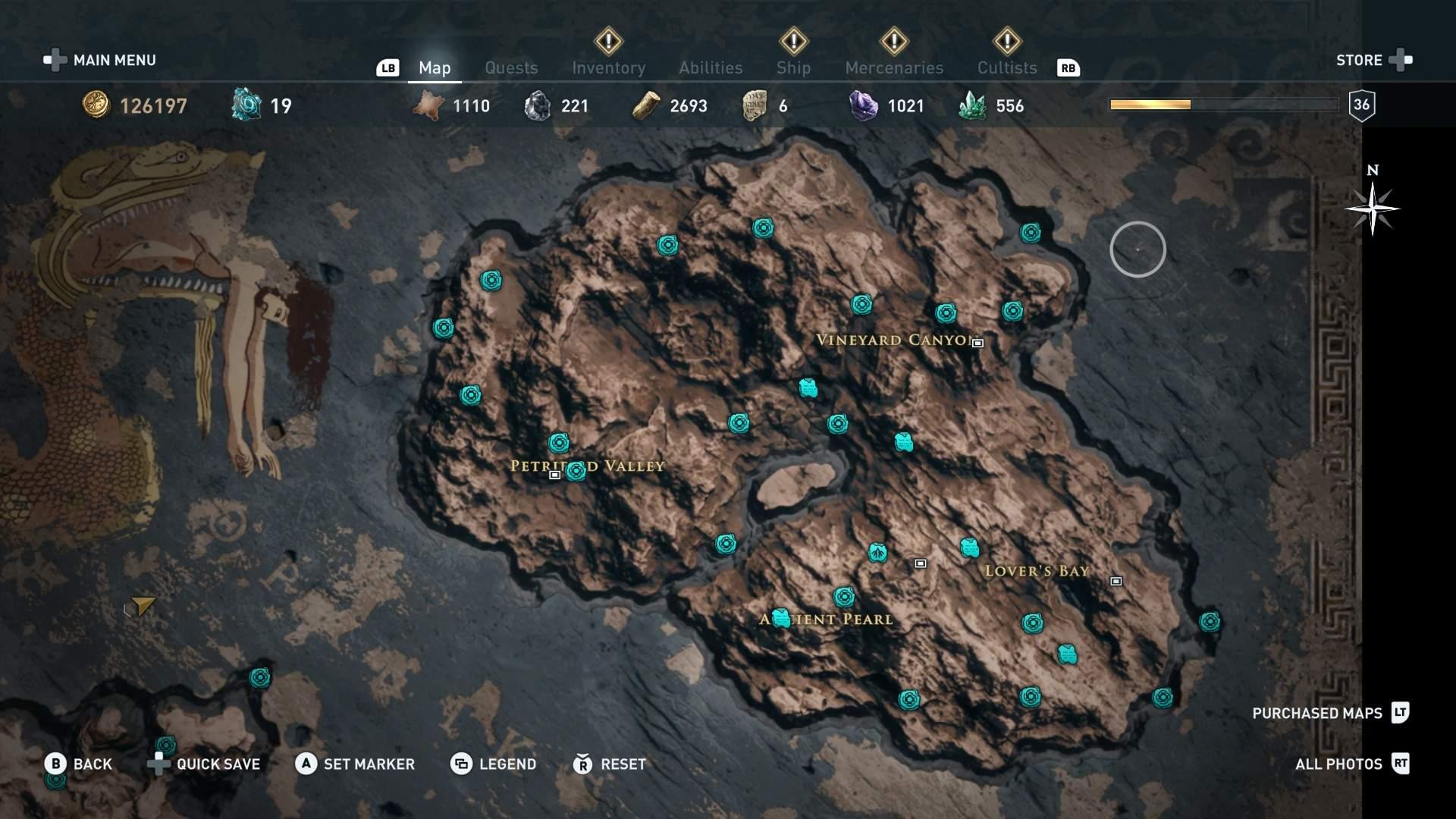 assassins creed odyssey map legend