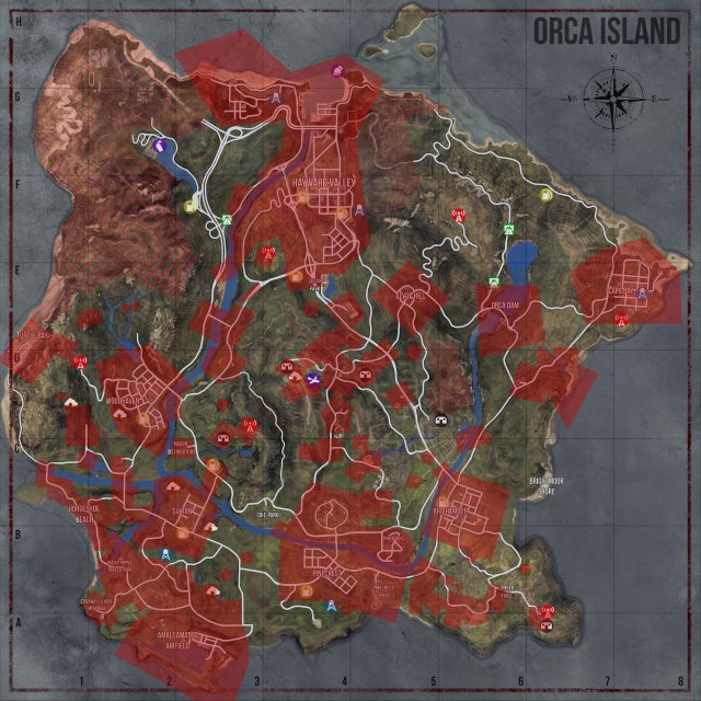 Miscreated - Map (Vehicles, Tents, Loot / Weapon Spawns, Bunker Homes and Plot Sign Blocked Areas)