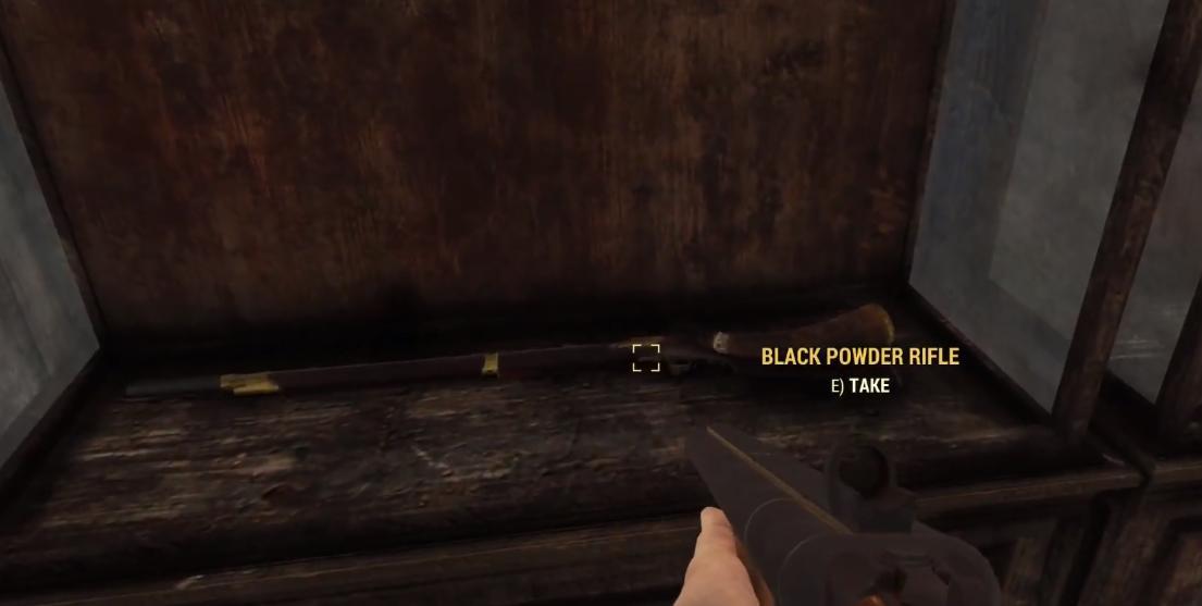 fallout 76 black powder rifle location