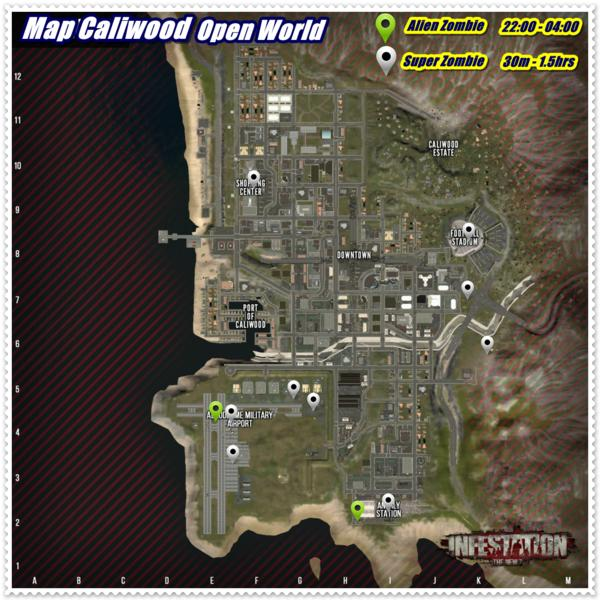 Infestation: The New Z - All Spawn Location of Alien and