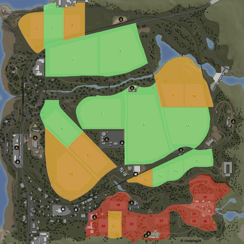 Farming Simulator 19 Fields Sizes And Cost Ravenport And Felsbrunn