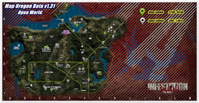 Infestation: The New Z - All Spawn Location of Alien and Normal Super Zombie