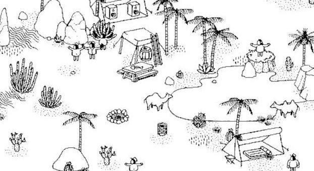 Hidden Folks - Reptile Location (Dry Lands Level 3)