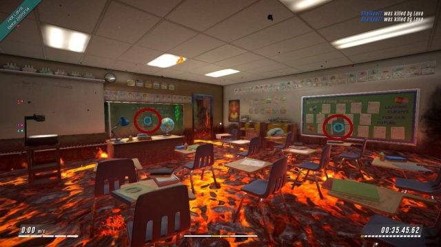 Hot Lava - Collectible Card Locations (School Overworld  / Lavaworld)