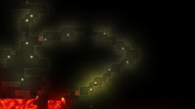 Dig or Die - Blocking Lava