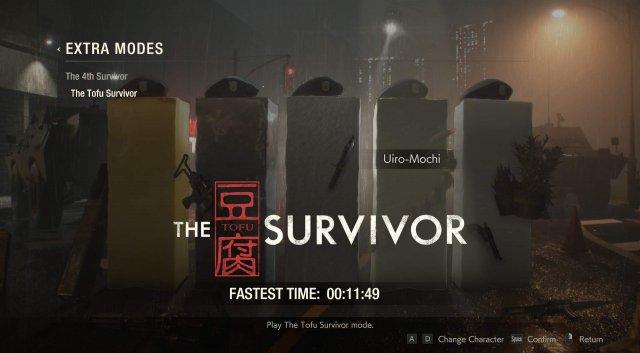 Resident Evil 2 - The Tofu Survivor Bonus Mode (Characters / Unlocks)