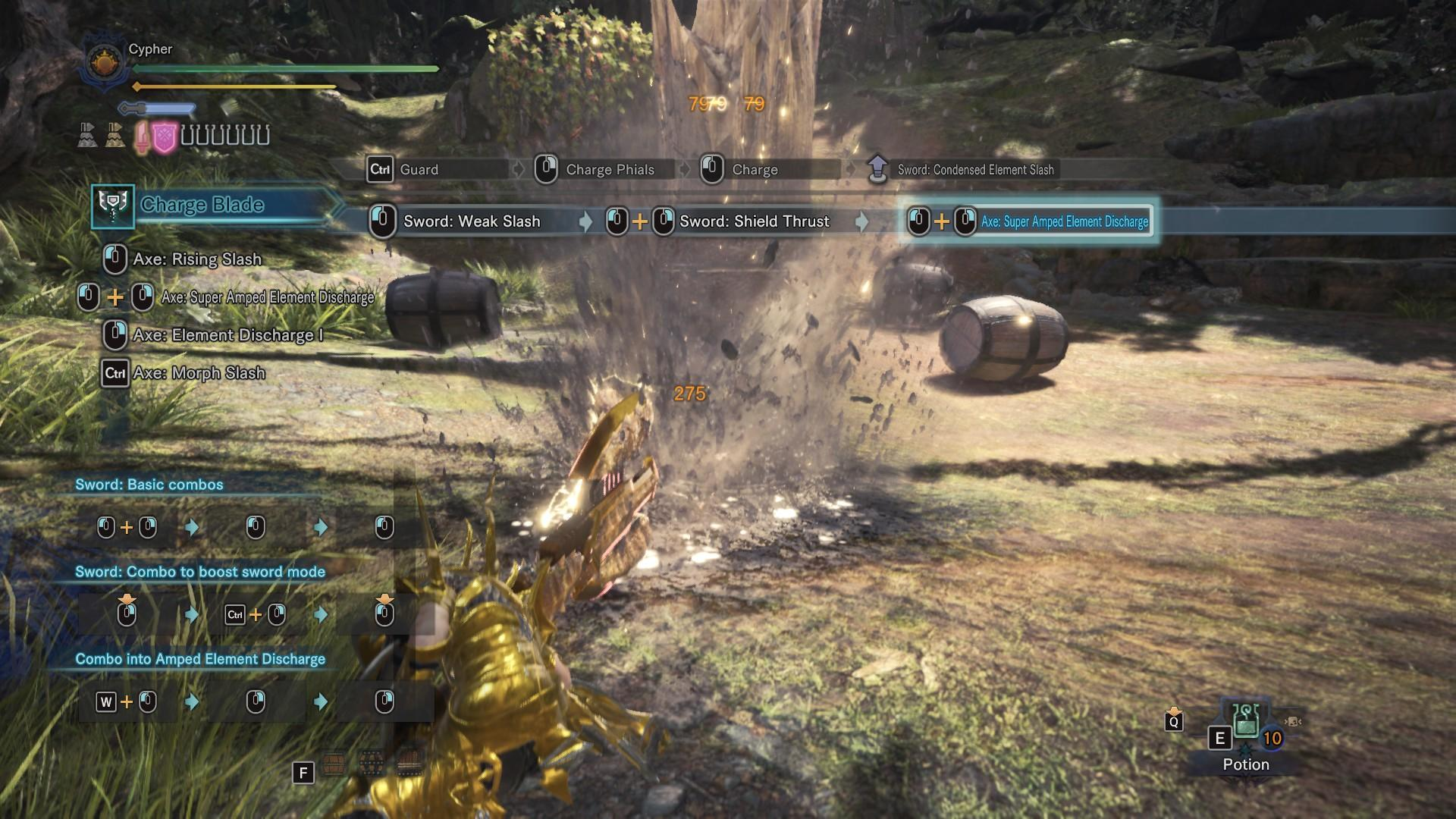 Monster Hunter: World - Personal Charge Blade Build: Panzer