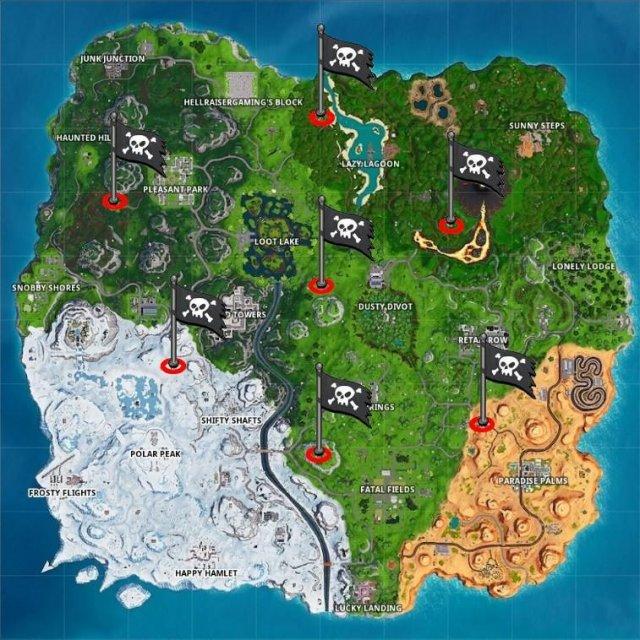 Fortnite Battle Royale - All Pirate Camp Locations (Season 8)