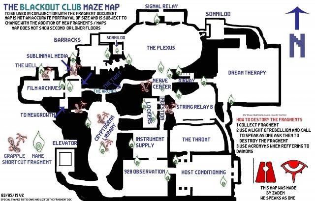 The Blackout Club - Maze Map