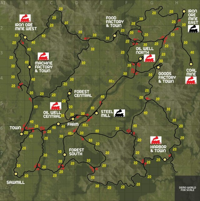 Derail Valley - Navigational Aid (Suggested Speed Zones, Default Switch Directions, & Motive Power Locations)