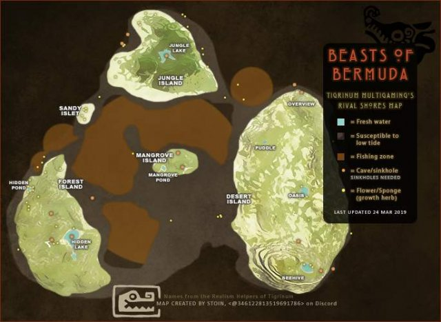 Beasts of Bermuda - Rival Shores Map