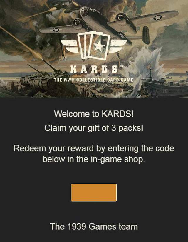 KARDS - How to Get Three Free Packs