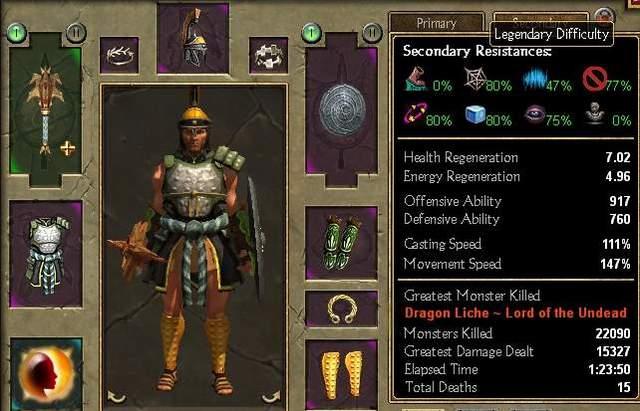 Titan Quest - Conqueror (Defense / Warfare) Build Guide