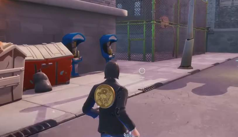 Letter E Fortnite Downtown Drop Fortnite Battle Royale Find Jonesy Near The Basketball Court Rooftops Back Of A Truck Downtown