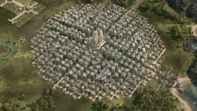 Anno 2070 - 400 Houses Perfect Symmetrical Layout
