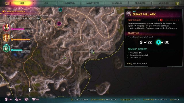 RAGE 2 - Ark Locations Map