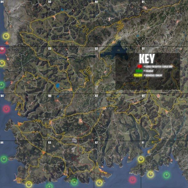SCUM - Shipwreck Locations Map