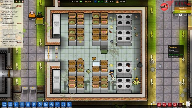 Prison Architect - How to Properly Set Up a Kitchen and Canteen