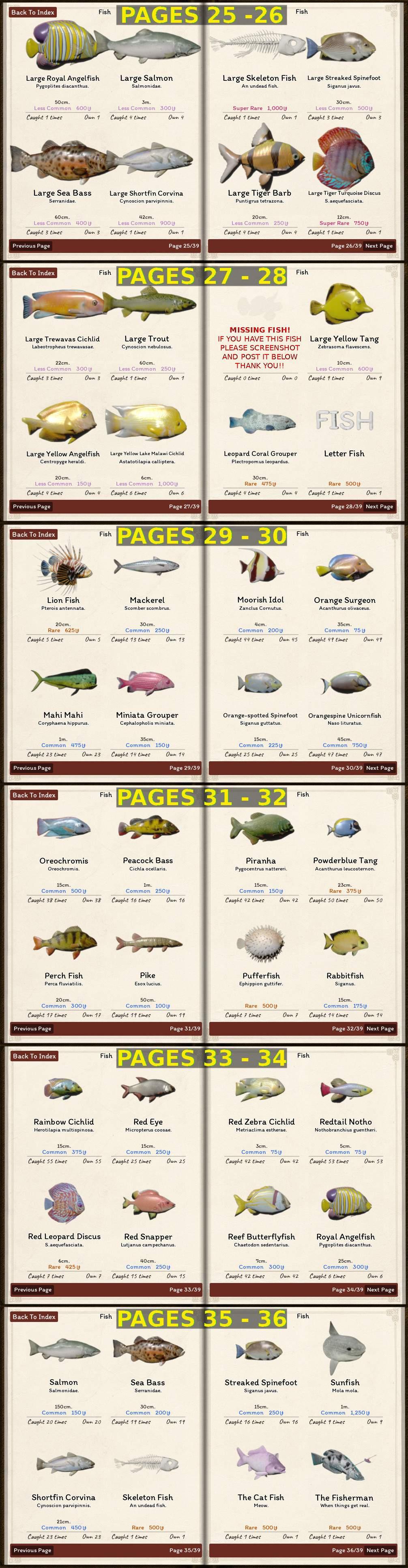 Tower Unite Halloween 2020 New Items List Tower Unite   All Fish and Items List (Full Sea Encyclopedia)