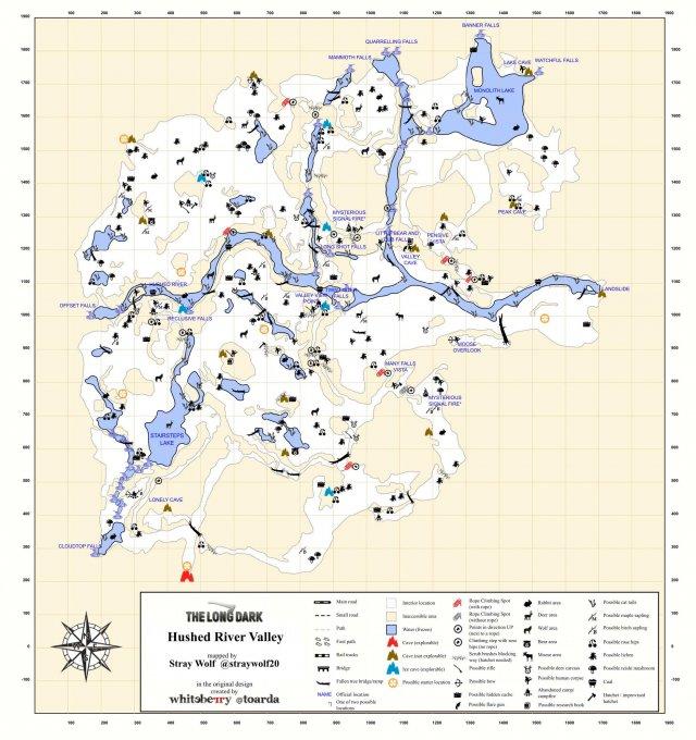 The Long Dark - All Regions Maps