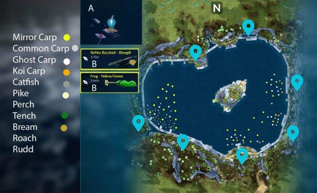 Fishing Sim World - Waldsee Fishing Spots