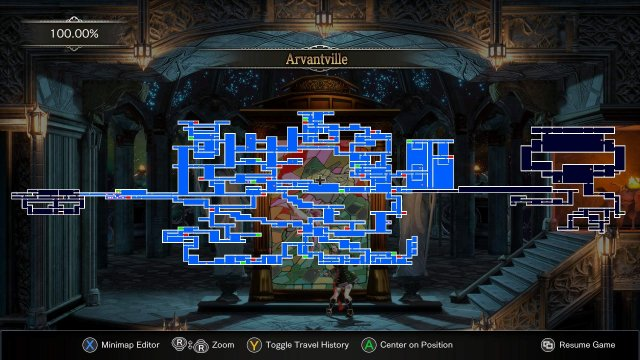 Bloodstained: Ritual of the Night - 100% Full Map